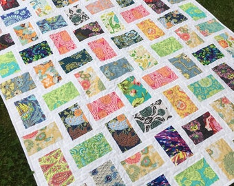 READY TO SHIP Patchwork quilt, hand made, Classic quilt , twin size ,cotton blanket ,56 x 78 inch