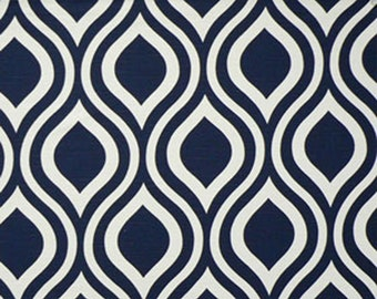 RECENTLY REDUCED!!  Premier Prints Emily Premier Navy White Slub Home Decorating Fabric By The Yard