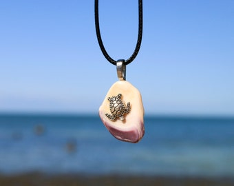 Sea Turtle Sea Shell Necklace | Silver Sea Turtle Pendant - Sea Turtle Conservation | Seashell necklace | Boho Jewelry | BohoChic