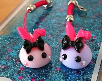 Hoppe Chan Keychain charm rabbit ears Bunny loop
