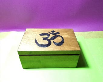 Meditation And Healing Box ,reiki box,decoupage healing box,chakra box,crystal box,ohm box