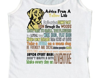 Linda's Gifts Women's Advice from A Chocolate Lab Labrador Retriever Tank Top