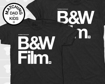Matching Dad and Me Shirts - B&W Film
