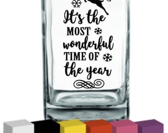 It's the most wonderful time of the year Vinyl for Vase / Decal / Sticker/ Graphic