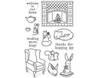 Hero Arts: CM153 Welcome Home, clear stamp, stamping, scrapbooking, craftmaking