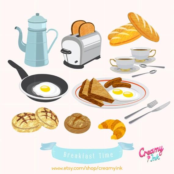 american breakfast brunch food digital vector clip art. Black Bedroom Furniture Sets. Home Design Ideas