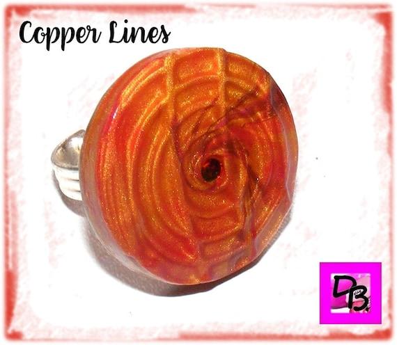 Bague Fimo [Copper Lines]