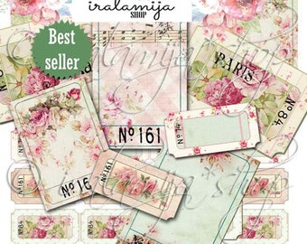 SHABBY TICKETS Printable Digital Images -printable download / Tickets /Vintage Tickets/ Scrapbook/Tickets / printable Ticket / Shabby Ticket