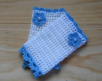 Usefull gif, Fingerless gloves, Crochet mittens, Crochet Winter gloves, White Mittens,  gift