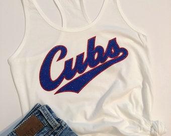 Cubs Tank - Cubs Womens Tank - Cubs Shirt - Cubs Womens Shirt - Cubs Clothing - Cubs Baseball - Cubs Apparel - Baseball Tank