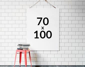 Any print 70x100 cm