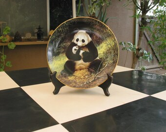 Vintage Collectors Plate The Panda By Will Nelson 1988