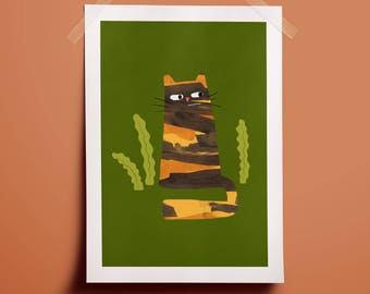 Little Cat/Big Cat - Giclee Print