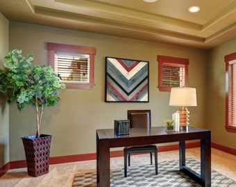 Reclaimed Wood Stained Chevron