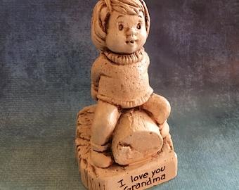 "Vintage ""I love you Grandma"" figurine by Paula from 1981"