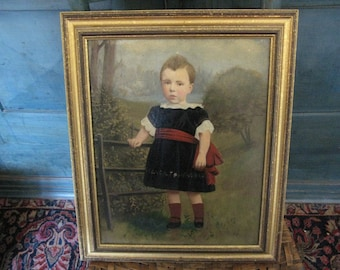 American Antique Portrait of a Child