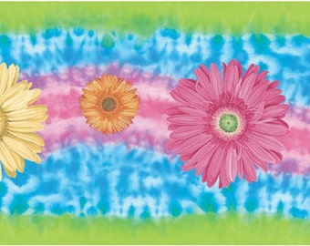 Tie Dye Wall Border for Crafting, Scrapbooking and More