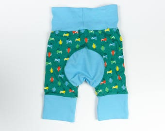 Bugs and Light Blue Baby Big Butt Shorts - Grow with me shorts - Cloth diaper friendly - Toddler - Gift