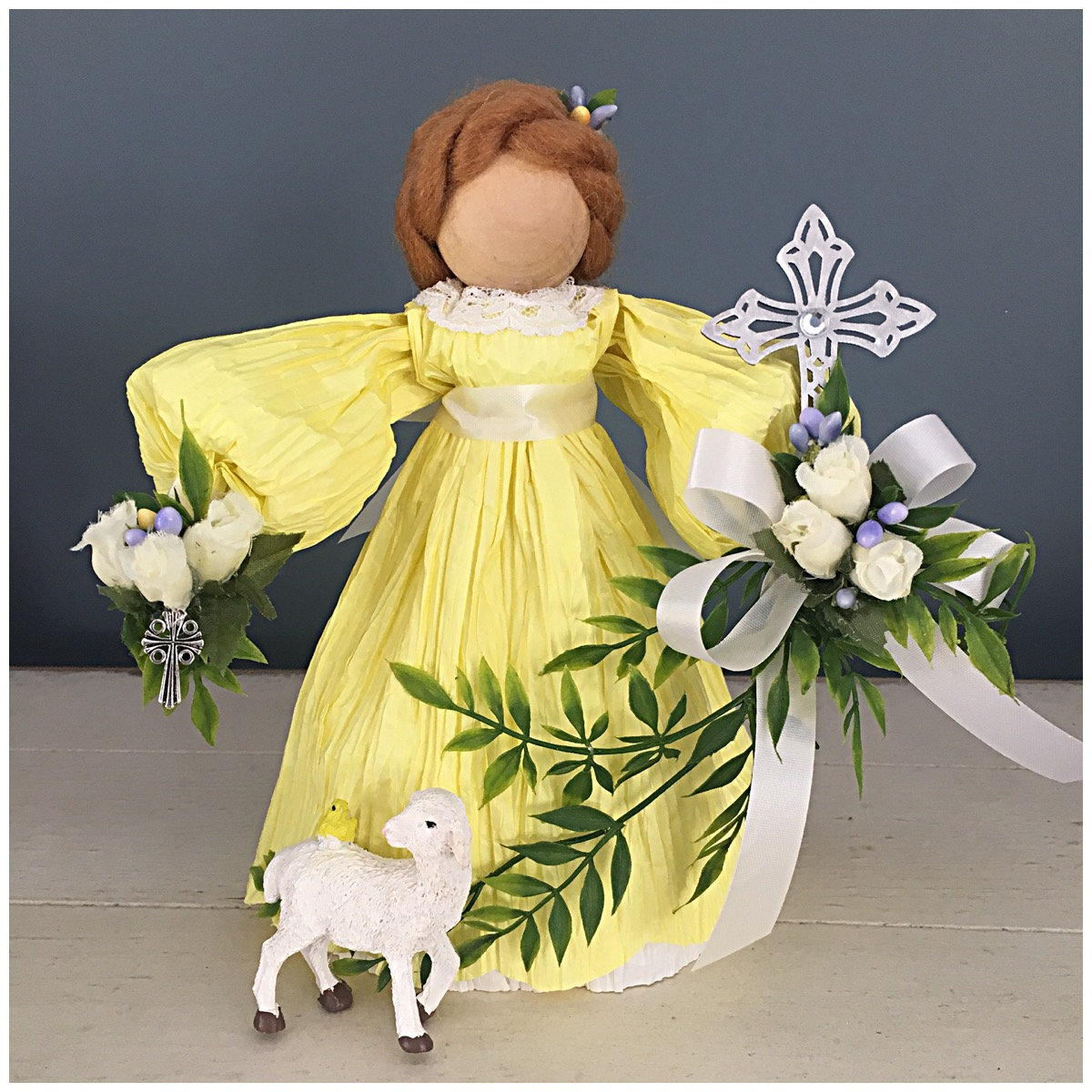 Handmade easter doll unique easter gifts religious church gift handmade easter doll unique easter gifts religious church gift religious doll religious decor easter table baptism and communion gifts negle Gallery