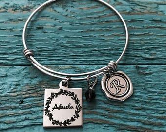 Abuela, Spanish, Grandma, Grandmother, Silver Bracelet, Gifts for, Abuela Gift, Silver Jewelry, Grandma Charm Bracelet, New Grandma, Gifts,