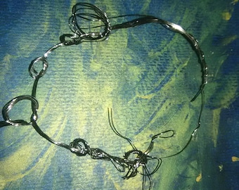 Twisted Guitar String Jewelry. Unique Accessories. Rock n Roll Chic. Statement Piece.
