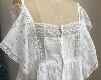 Victorian French lace top
