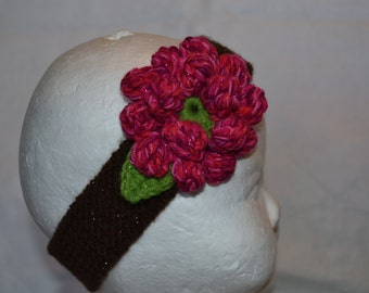 Knitted toddler to child size headband
