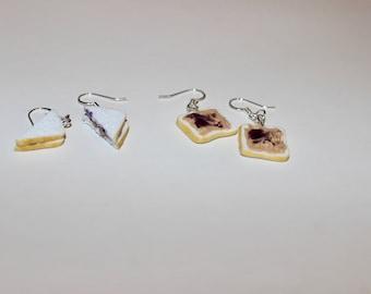Miniature PB&J Sandwich Earrings