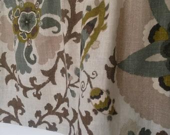 Braemore Rhinestone Valance/Green Valance Curtain/Gray & Brown Valance/Curtain Valances/Kitchen Curtains and Valances/Window Valances