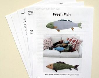 Fresh Fish Pillow Pattern pdf