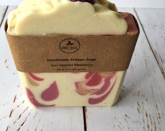Sun-Ripened Raspberry, Cold Processed Soap, Handmade Soap, Artisan Soap, All Natural Soap, Natural Soap, Unique Gifts for Women, Bar Soap