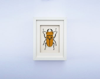 Paper Entomology – Single Beetle – Paper Art