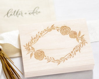 Hand Drawn Floral Frame Stamp | Mail art stamp, Hand drawn rubber stamp, Stationery gift, Accessory stamp