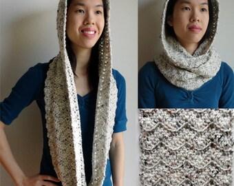 Hooded Chevron Cowl - PDF Crochet Pattern - Instant Download