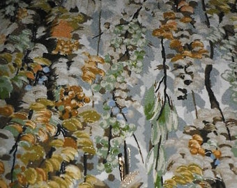 SF648 Awesome Autumn Forest Hand Painted on Japanese Silk Fabric