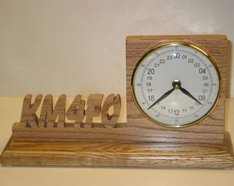 Desk Top 24 hour Call Sign Clock