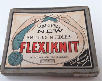 Vintage flexible knitting needle Flexiknit in box - knitting