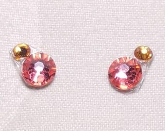 Hot Pink & Tangerine Eye Candies ATS Tribal Fusion Bindi - 00111