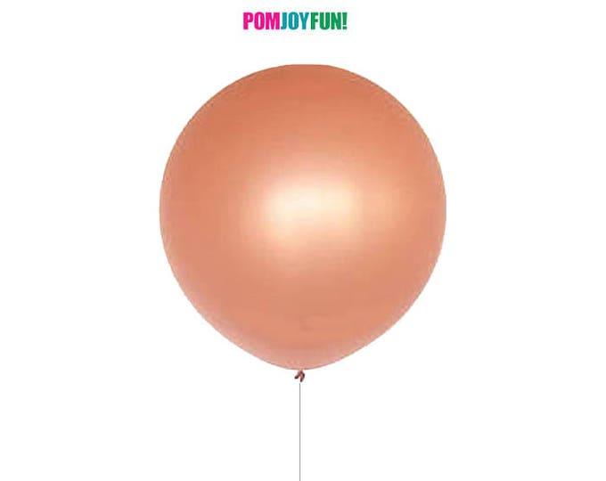 Rose Gold Balloon 36 inch,  Round Rose Gold Balloon, Giant Round 36 inch Rose Gold Balloon, Huge Rose Gold Balloon, Rose Gold Decor