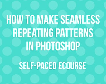 How to make seamless repeating patterns in photoshop ecourse