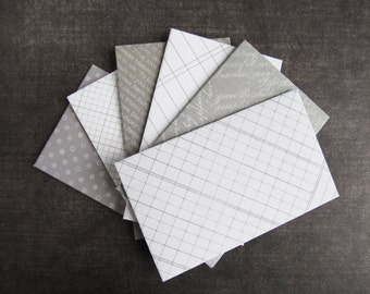 Gray Mini Envelopes, Gift Card, Business Card Envelopes, Favor Envelopes, Party, Wedding, Shower, Neutral, Set of 12
