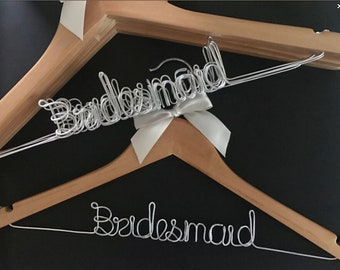 Free shipping 6Pcs Personalized Wedding Hanger, bridesmaid gifts, name hanger,