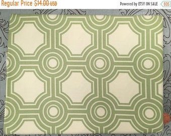 SPRING SALE SATEEN / Home Dec - By the Yard - Ginseng by Joel Dewberry for Westminster - Square Tiles in Celery