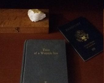 Tales of a Wayside Inn by Longfellow, Copyright 1987, Vintage Longfellow, Vintage Wayside Inn, Henry Wadsworth Longfellow, Vintage Novels