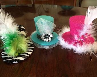 Custom Mini Top Hat: Set of 3