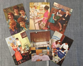 Set of old coloured postcards - end of the 1960s-10 pieces