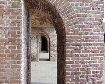 Passageway at Fort Sumter off the coast of Charleston, South Carolina