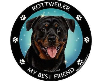 Rottweiler My Best Friend Dog Magnet