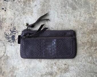 Handmade Italian Leather Wallet Women Wallet Gift Leather Clutch Zipper Wallet Small Bag Two zipper Wallet Yellow Wallet Red Clutch