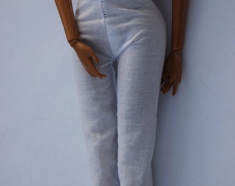 11.5 inch dolls clothes -white straight pant